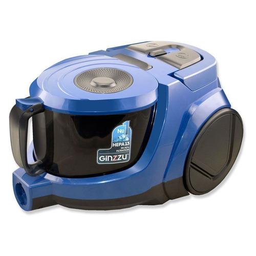Фото - Пылесос GINZZU VS438, 2000Вт, черный/синий пылесос ginzzu vs427 1500вт синий черный
