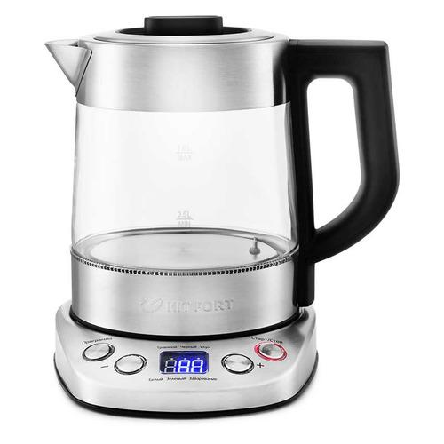 Чайник электрический KITFORT КТ-652, 2200Вт, серебристый