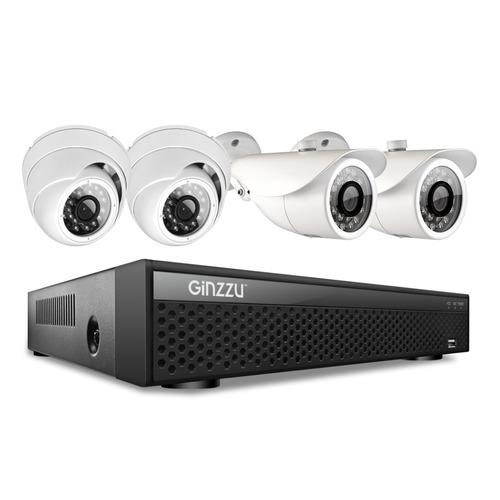 Комплект видеонаблюдения GINZZU HK-447D цена и фото