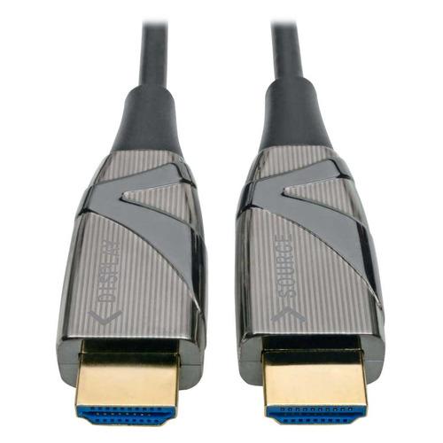 Фото - Кабель оптический TRIPPLITE HDMI (m) - HDMI (m) , ver 2.0, 10м, черный, блистер [p568-10m-fbr] кабель hdmi greenconnect 0 5m v2 0 hdr 4 2 2 ultra hd 4k 60 fps 60hz 5k 30hz 3d audio