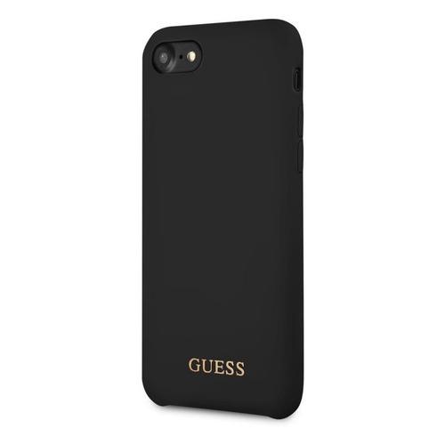 Чехол (клип-кейс) Guess, для Apple iPhone 7/8, черный [guhci8lsglbk] guess чехол крышка guess для apple iphone 7 8 алюминий серебряный hard case