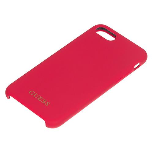 Чехол (клип-кейс) Guess, для Apple iPhone 7/8, красный [guhci8lsglre] guess чехол крышка guess для apple iphone 7 8 алюминий серебряный hard case