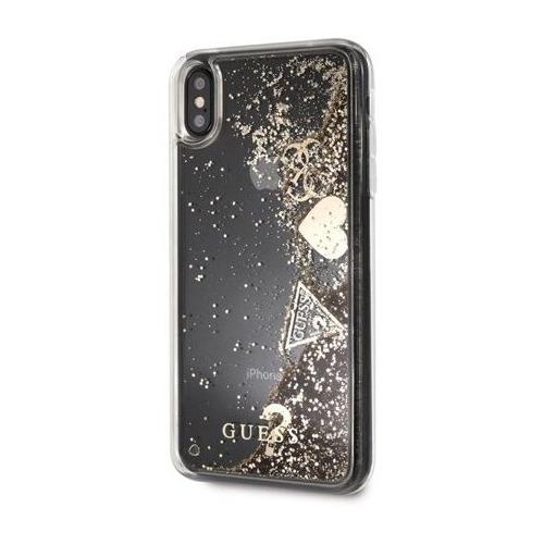 Чехол (клип-кейс) Guess Glitter Gold, для Apple iPhone X/XS, золотистый [guhcpxglhflgo] клип кейс guess iridescent для apple iphone x золотистый
