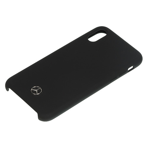 цена на Чехол (клип-кейс) Mercedes Silicone Line, для Apple iPhone X/XS, черный [mehcpxsilbk]
