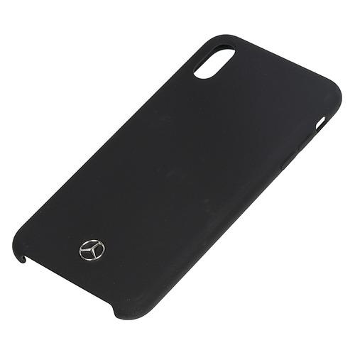 цена на Чехол (клип-кейс) Mercedes Silicone Line, для Apple iPhone XS Max, черный [mehci65silbk]