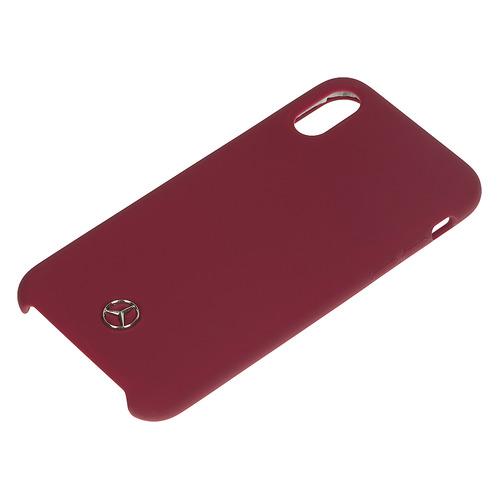 цена на Чехол (клип-кейс) Mercedes Silicone Line, для Apple iPhone X/XS, красный [mehcpxsilre]