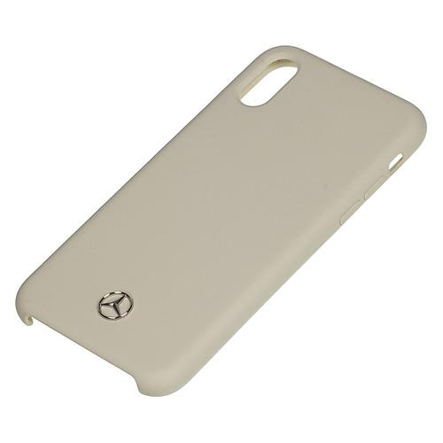 цена на Чехол (клип-кейс) Mercedes Silicone Line, для Apple iPhone X/XS, бежевый [mehcpxsilbe]