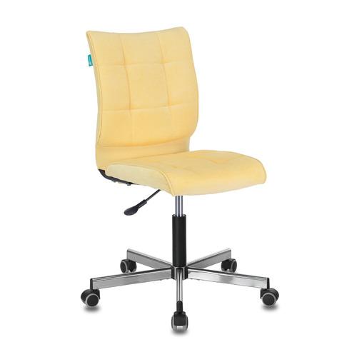 Кресло БЮРОКРАТ CH-330M, на колесиках, ткань, желтый [ch-330m/velv74]