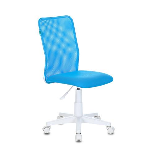 Кресло детское БЮРОКРАТ KD-9, на колесиках, сетка/ткань, голубой [kd-9/wh/tw-55] кресло офисное персона persona доступные цвета обивки искусств чёрная кожа