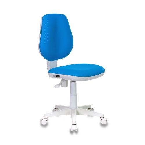 Кресло детское БЮРОКРАТ CH-W213, на колесиках, ткань, голубой [ch-w213/tw-55] кресло офисное персона persona доступные цвета обивки искусств чёрная кожа