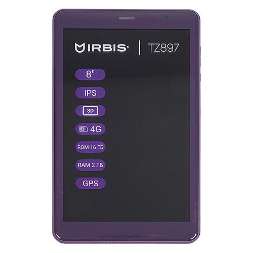 Планшет IRBIS TZ897, 2GB, 16GB, 3G, 4G, Android 8.1 фиолетовый планшет irbis tz856e 1gb 16gb 3g android 7 0 фиолетовый