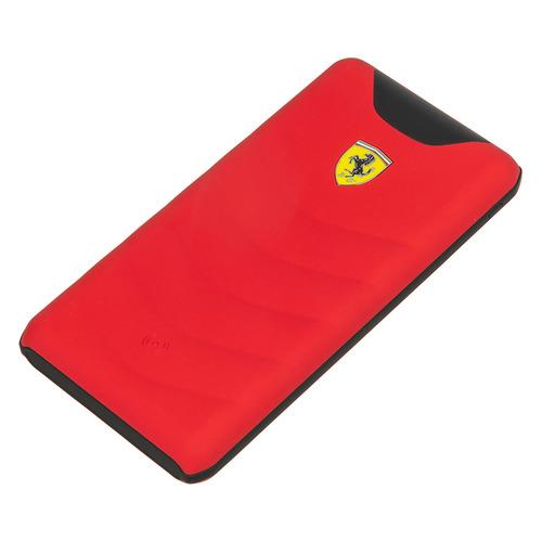 Внешний аккумулятор (Power Bank) Ferrari Rubber, 10000мAч, красный [feopbw10kqure]