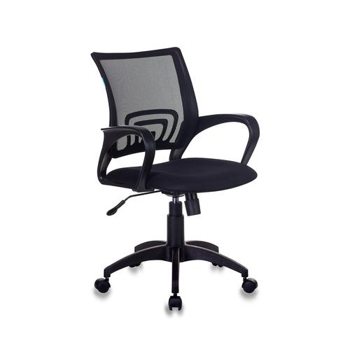 Кресло БЮРОКРАТ CH-695N, на колесиках, ткань, черный [ch-695n/black] цена и фото