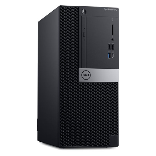 Компьютер DELL Optiplex 5070, Intel Core i5 9500, DDR4 8Гб, 256Гб(SSD), Intel UHD Graphics 630, DVD-RW, Windows 10 Professional, черный [5070-4760] системный блок intel профессиональный компьютер pro p273 core i5 6500 3 2ghz 8gb ddr4 2tb 240gb ssd dvd rw nvidia quadro m2000 4gb 500w windows 10 professional cy 536738 p273