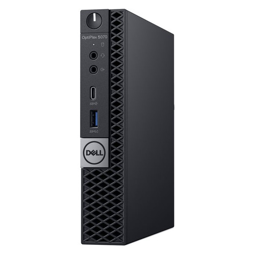 Компьютер DELL Optiplex 5070, Intel Core i5 9500T, DDR4 8Гб, 256Гб(SSD), Intel UHD Graphics 630, Windows 10 Professional, черный [5070-4838] компьютер