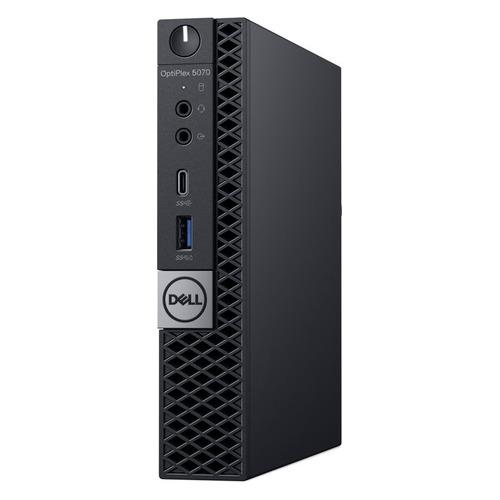 Компьютер DELL Optiplex 5070, Intel Core i7 9700T, DDR4 8ГБ, 1000ГБ, 256ГБ(SSD), Intel UHD Graphics 630, Windows 10 Professional, черный [5070-6725] компьютер