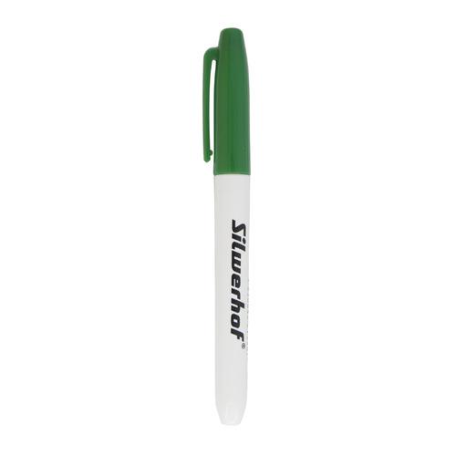 Упаковка маркеров для флипчартов SILWERHOF Base, 2.5 мм, пулевидный пишущий наконечник, зеленый 12 шт./кор. упаковка напалечников для бумаг silwerhof 17мм диам 28мм выс резина зеленый [672202] 10 шт кор