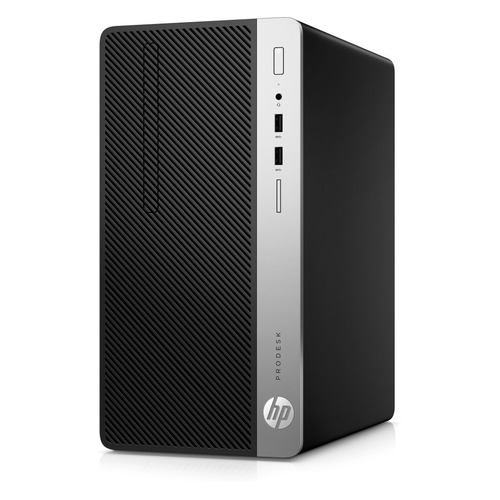 Компьютер HP ProDesk 400 G6, Intel Core i3 9100, DDR4 8ГБ, 256ГБ(SSD), Intel UHD Graphics 630, DVD-RW, Windows 10 Professional, черный [7el67ea] компьютер