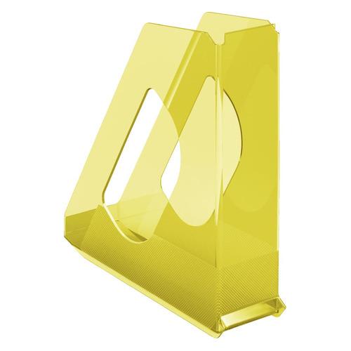Лоток вертикальный ESSELTE Colour'Ice 72x256x260, полистирол, желтый [626277]