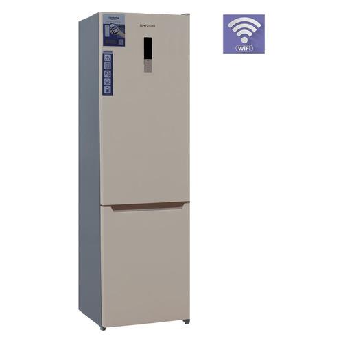 цены Холодильник SHIVAKI BMR-2016DNFBE, двухкамерный, бежевый