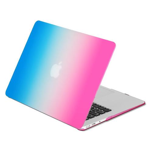"Накладка 15.4 DF MacCase-04, синий/красный, для MacBook Pro 15"" Touch bar (A1707/A1990) [df maccase-04 (blue+red)] аксессуар чехол df для macbook pro 15 touch bar a1707 a1990 maccase 4 purple orange"