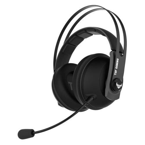 Гарнитура игровая ASUS TUF Gaming H7 CORE, для компьютера, накладные, черный / серый [90yh021g-b1ua00], черный / серый  - купить со скидкой