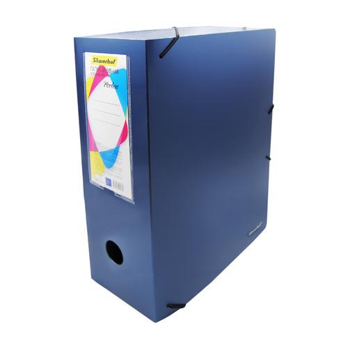 Папка архивная на резинке Silwerhof Perlen 311915-74 полипропилен 1мм корешок 100мм A4 синий металли папка на резинке природные цветы a4 в ассортименте