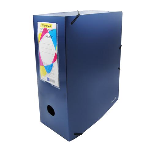 Папка архивная на резинке Silwerhof Perlen 311916-74 полипропилен 1мм корешок 120мм A4 синий металли папка на резинке природные цветы a4 в ассортименте