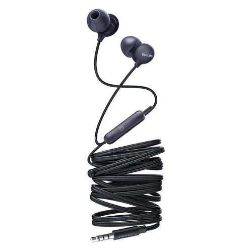Наушники с микрофоном PHILIPS SHE2405, 3.5 мм, вкладыши, черный [she2405bk/00]