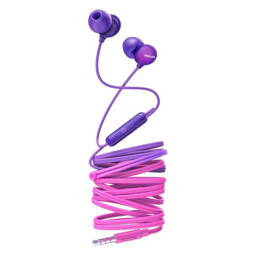 Наушники с микрофоном PHILIPS SHE2405, 3.5 мм, вкладыши, фиолетовый/розовый [she2405pp/00]