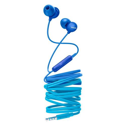 Наушники с микрофоном PHILIPS SHE2405, 3.5 мм, вкладыши, синий/голубой [she2405bl/00]