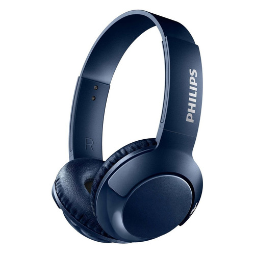 цена на Наушники с микрофоном PHILIPS SHB3075BL, Bluetooth, накладные, синий [shb3075bl/00]