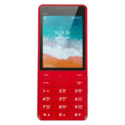Мобильный телефон BQ Only 2815, красный цена и фото