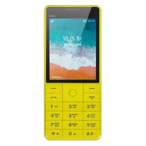 Мобильный телефон BQ Only 2815, желтый цена и фото