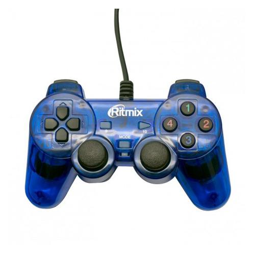 Геймпад проводной RITMIX GP-006 синий [80000359] геймпад проводной ritmix gp 035bth черный [80000202]
