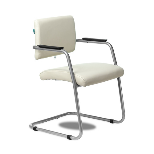 Кресло БЮРОКРАТ CH-271N-V, на полозьях, искусственная кожа, молочный [ch-271n-v/sl/or-10] кресло офисное персона persona доступные цвета обивки искусств чёрная кожа