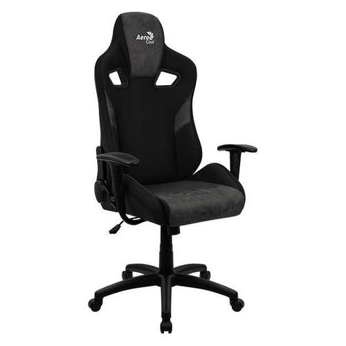 Кресло игровое Aerocool Count Iron Black, на колесиках, ткань, черный [count iron black]