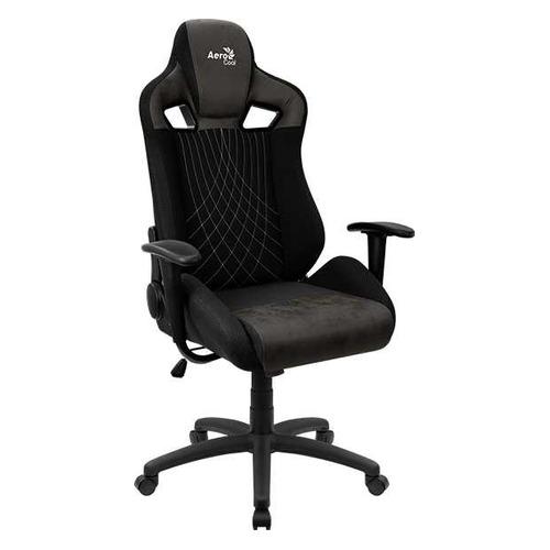 Кресло игровое AEROCOOL Earl Iron Black, на колесиках, ткань, черный [earl iron black] корпус aerocool xpredator x3 evil black edition