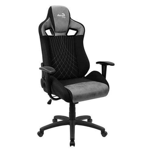 Кресло игровое AEROCOOL Earl Stone Grey, на колесиках, ткань, черный/серый [earl stone grey] кресло офисное персона persona доступные цвета обивки искусств чёрная кожа