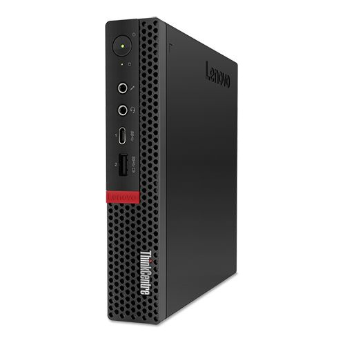 Компьютер LENOVO ThinkCentre Tiny M720q, Intel Core i3 9100T, DDR4 4Гб, 128Гб(SSD), Intel UHD Graphics 630, Windows 10 Professional, черный [10t7009yru] пк lenovo thinkcentre m710q tiny slim i3 6100t 3 2 4gb 1tb 5 4k hdg530 windows 10 home single language 64 gbiteth wifi bt клавиатура мышь черный