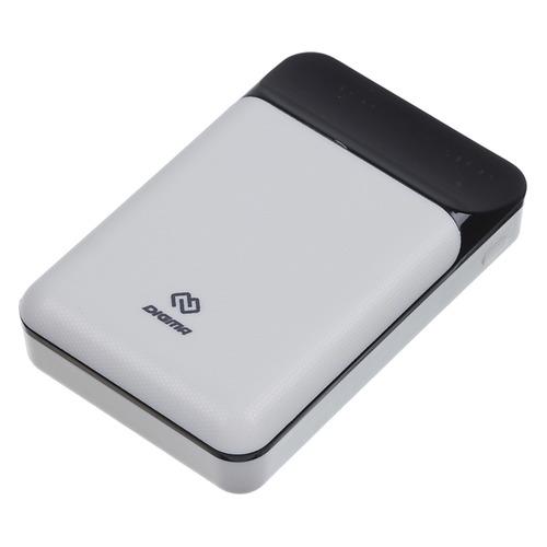 Фото - Внешний аккумулятор (Power Bank) DIGMA DG-10000-SML-W, 10000мAч, белый аккумулятор digma dg me 10000 серый