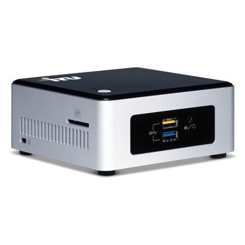 Неттоп IRU NUC 111, Intel Celeron N3050, DDR3L 4Гб, 120Гб(SSD), Intel HD Graphics, CR, Windows 10 Professional, черный и серебристый [1166768] неттоп iru 317 1051609 черный