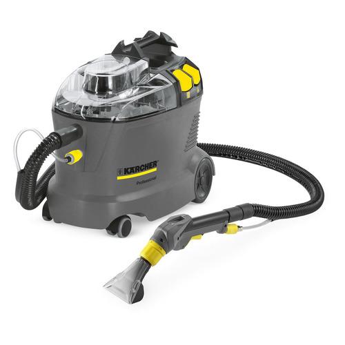 Моющий пылесос KARCHER Puzzi 8/1 C, 1200Вт, серый/желтый пылесос моющий karcher se4001 1400вт желтый черный