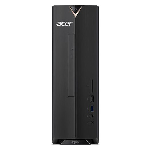 Компьютер ACER Aspire XC-886, Intel Core i3 9100, DDR4 8ГБ, 1000ГБ, 128ГБ(SSD), Intel UHD Graphics 630, CR, Endless, черный [dt.bdder.002]