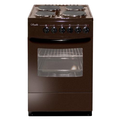 цена на Электрическая плита ЛЫСЬВА ЭП 402 М2С, эмаль, без крышки, коричневый