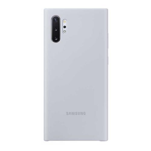 Чехол (клип-кейс) SAMSUNG Silicone Cover, для Samsung Galaxy Note 10+, серебристый [ef-pn975tsegru] цена в Москве и Питере