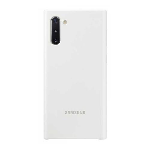 Чехол (клип-кейс) SAMSUNG Silicone Cover, для Samsung Galaxy Note 10, белый [ef-pn970twegru]  - купить со скидкой