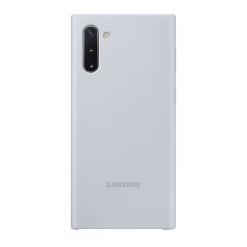 Чехол (клип-кейс) SAMSUNG Silicone Cover, для Samsung Galaxy Note 10, серебристый [ef-pn970tsegru] цена в Москве и Питере
