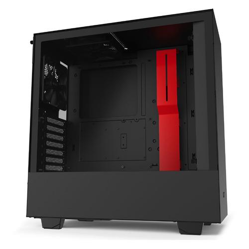 Корпус ATX NZXT H510 CA-H510B-BR, Midi-Tower, без БП, черный и красный