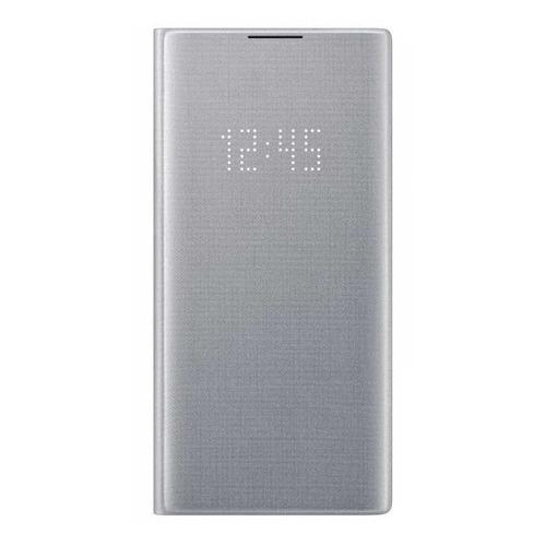 Чехол (флип-кейс) SAMSUNG LED View Cover, для Samsung Galaxy Note 10+, серебристый [ef-nn975psegru] чехол для смартфона samsung для galaxy note 5 glocover золотистый ef qn920mfegru ef qn920mfegru